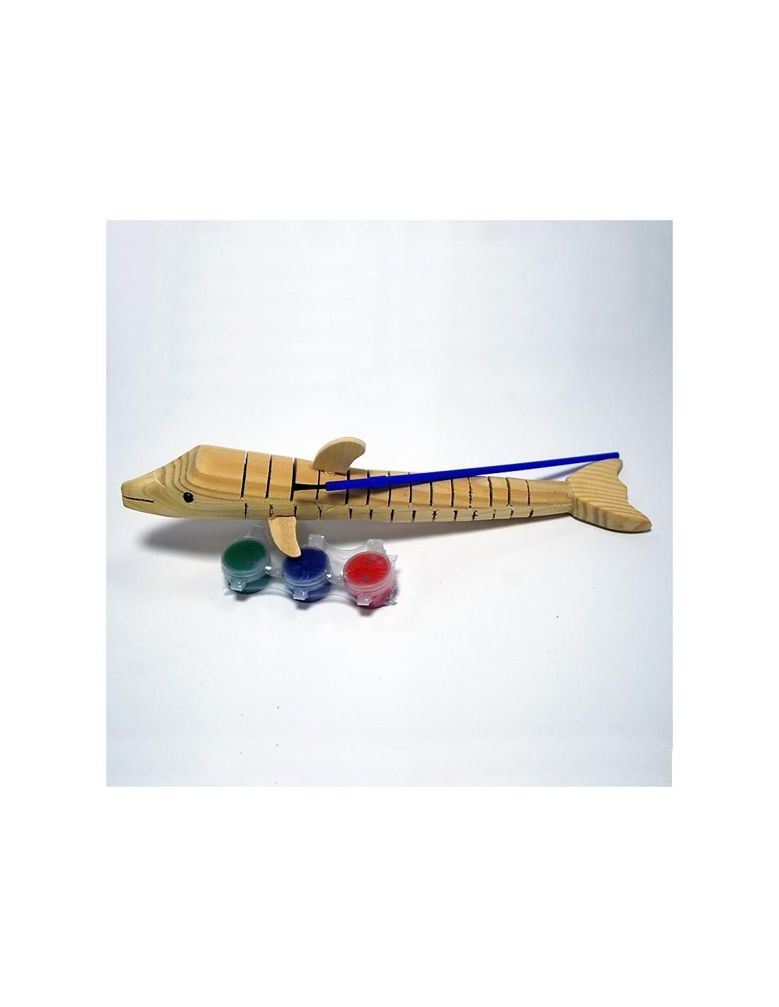 Раскраска деревянная Конек /Дельфин