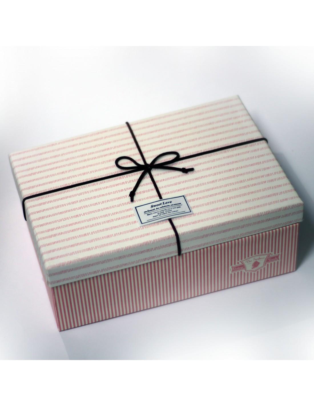 Cutie Pentru Cadou Stripes Mare 1